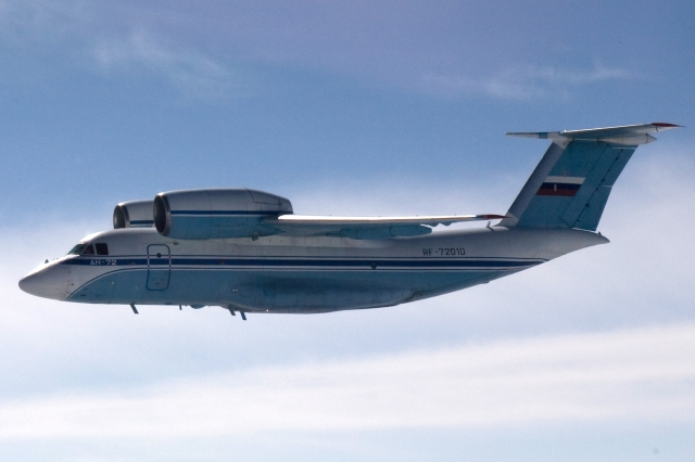 The Antonov An-72 that flew into Finnish airspace on 28th of August. Note the unusual placement of the engines above the wings. Source: Finnish Defence Sources/Mil.fi.