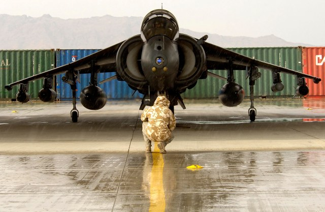 Harrier Testing in the Rain