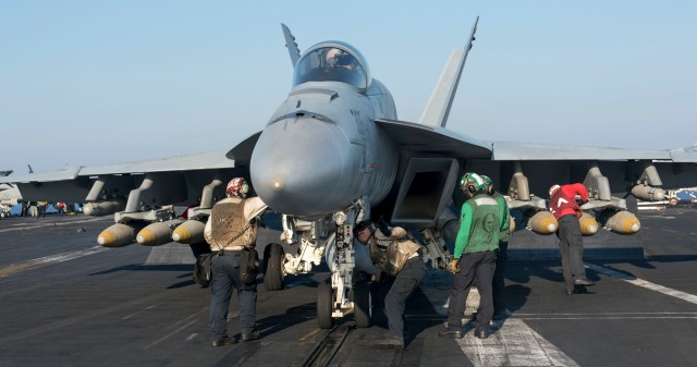 GHWB is the flagship of Carrier Strike Group (CSG) 2, which is comprised of the staff of CSG-2, GHWB, the nine squadrons and staff of Carrier Air Wing (CVW) 8, Destroyer Squadron (DESRON) 22 staff and guided-missile destroyers USS Laboon (DDG 58) and USS Truxton (DDG 103), and Mayport-based guided-missile cruisers USS Philippine Sea (CG 58) and USS Hue City (CG 66).