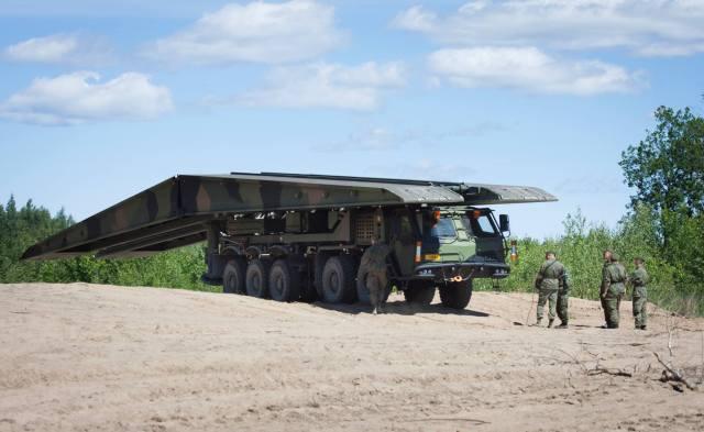 Sisu E15 TP-L Leguan bridge Saber Strike 18 - Maavoimat FB
